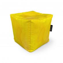 Fotoliu Units Puf (Bean Bags) tip cub, impermeabil, abstract galben