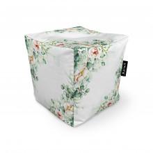 Fotoliu Units Puf (Bean Bags) tip cub, impermeabil, floral alb