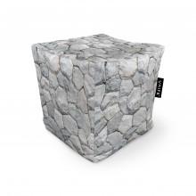 Fotoliu Units Puf (Bean Bags) tip cub, impermeabil, pietre albe