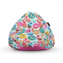 Fotoliu Units Puf (Bean Bags) tip para, impermeabil, cu maner, 100x80x70 cm, macarons