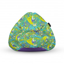 Fotoliu Units Puf (Bean Bags) tip para, impermeabil, cu maner, 100x80x70 cm, hippie turcoaz