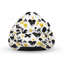 Fotoliu Units Puf (Bean Bags) tip para, impermeabil, cu maner, 100x80x70 cm, graffiti XO mice