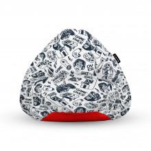 Fotoliu Units Puf (Bean Bags) tip para, impermeabil, cu maner, 100x80x70 cm, game over
