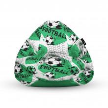 Fotoliu Units Puf (Bean Bags) tip para, impermeabil, cu maner, 100x80x70 cm, fotbal