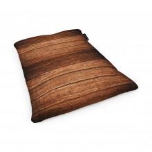 Fotoliu Units Puf (Bean Bags) tip perna, impermeabil, lemn maro inchis