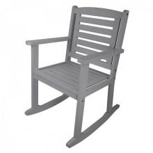 Scaun balansoar din lemn gri pentru exterior