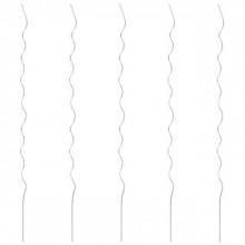 Spirale pentru suport plante, 5 buc., 170 cm, otel galvanizat