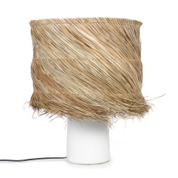 The Pandan Table Lamp - White Natural, , 40