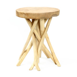 The Tulum Tropic Side Table - Natural, , 35
