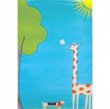 Covor copii, Girafa Turquoise 134x180cm