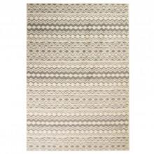Covor modern, design traditional, 80 x 150 cm, bej/gri
