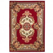 Covor persan, design oriental, 80 x 150 cm, rosu/bej