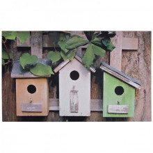 "Covoras decorativ de intrare ""Birdy houses"""