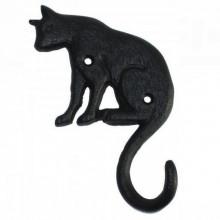 """Cuier """"Pisica neagra"""" din fonta cu 1 agatatoare"""