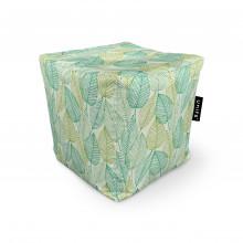 Fotoliu Units Puf (Bean Bags) tip cub, impermeabil, frunze verzi si galbene
