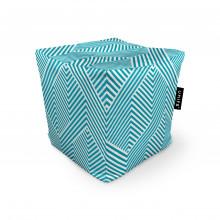Fotoliu Units Puf (Bean Bags) tip cub, impermeabil, motiv alb cu bleu