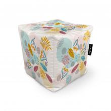 Fotoliu Units Puf (Bean Bags) tip cub, impermeabil, multicolor cu frunze