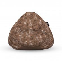 Fotoliu Units Puf (Bean Bags) tip para, impermeabil, cu maner, 100x80x70 cm, piese sah maro