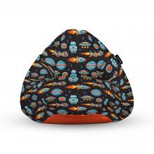 Fotoliu Units Puf (Bean Bags) tip para, impermeabil, cu maner, 100x80x70 cm, game space retro