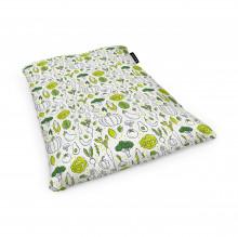 Fotoliu Units Puf (Bean Bags) tip perna, impermeabil, alb cu legume verzi