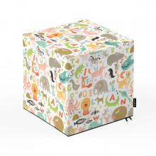 Taburet Units, cub, Alfabet, 30 x 30 x 30 cm