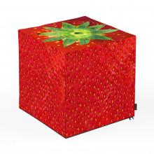 Taburet Units, cub, capsuna, 45 x 45 x 45 cm