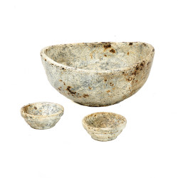 The Burned Curved Bowls - Antique - Set de 3 bucati, , SET3