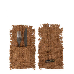 The Oh My Gee Cutlery Holder - Brown - Set of 4, , SET4