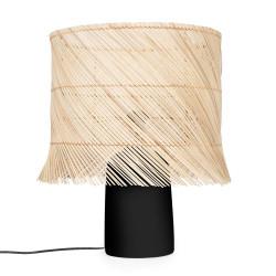 The Rattan Table Lamp - NegruNatural, , 40