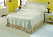 Cuvertura de pat din in 100% 240*240cm cu 2 fete de perna 40*40cm