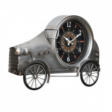 Ceas design de perete - Model 12 Oldtimer Auto, metal/sticla/MDF, 37 x 8 x 25 cm, multicolor