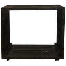 Etajera cub XL de lemn cu roti