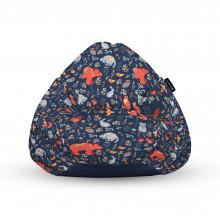 Fotoliu Units Puf (Bean Bags) tip para, impermeabil, cu maner, 100x80x70 cm, prietenii padurii