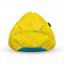 Fotoliu Units Puf (Bean Bags) tip para, impermeabil, cu maner, abstract galben