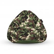 Fotoliu Units Puf (Bean Bags) tip para, impermeabil, cu maner, camuflaj armata