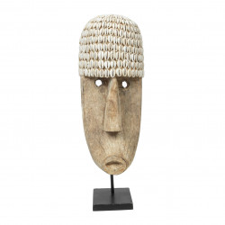 The Cowrie Mask on Stand - Large, Bazar Bizar, L