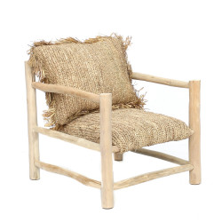 The Raffia One Seater - Natural, , 70