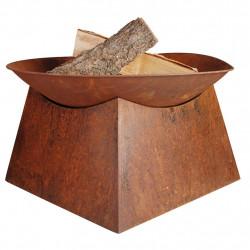 Vatra de foc sub forma de bol Esschert Design FF149, ruginiu