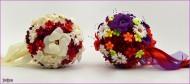 Dva unikatna bidermajera od papira - SUZANA Red & Cream