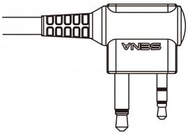Kábel SR10 és Midland PMR rádiókhoz (iker csatlakozós)