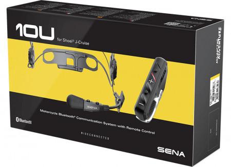 SENA 10U-SH3 beépíthető kommunikációs szett kormány-távirányítóval Shoei J-Cruise bukósisakokhoz