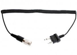 Kábel SR10 és ICOM, Midland vagy COBRA PMR rádiókhoz (iker, egyenes csatlakozós)