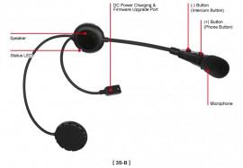 SENA 3S-B Bluetooth sztereó kommunikációs szett nyitott vagy felnyitható állú sisakokhoz