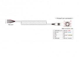 Kábel SR10 és egyedi csatlakoztatású PMR rádiókhoz