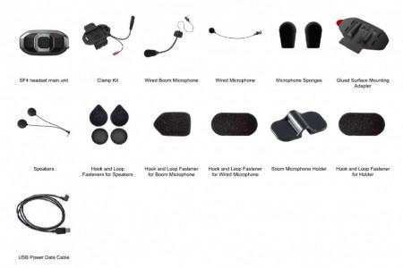 SF4 DUPLA CSOMAG HD-hangszórókkal, 4-résztvevős Bluetooth kapcsolat