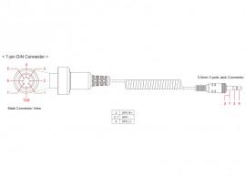 SM10-et csatlakoztató kábel egyéb motorokhoz (7 tüskés csatlakozóval)