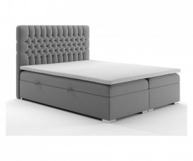 Bed with deposit space, mattress and topper included 160x200cm