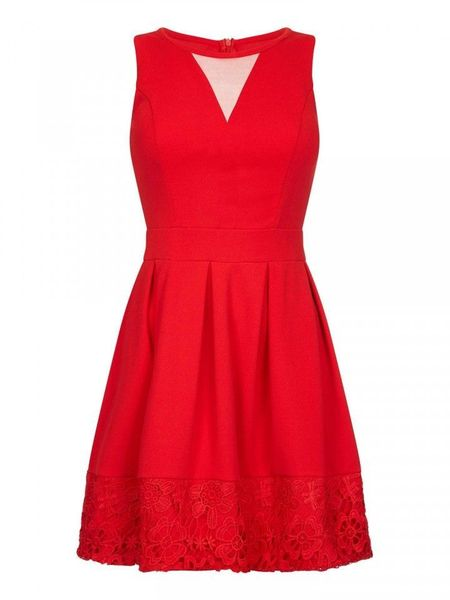 Lace Hem Party Dress