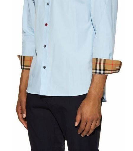 Contrast Button Shirt