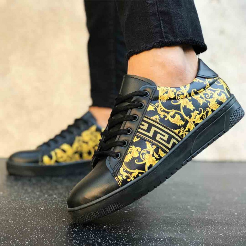 Pantofi casual negri, cu talpa usoara din spuma, ISAHAR